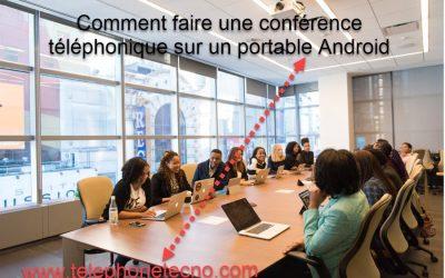 Faire une conférence téléphonique sur un portable Android