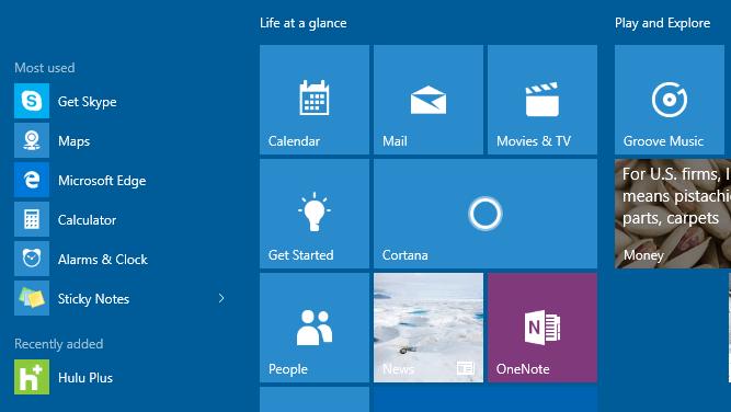 Comment masquer les applications les plus utilisées de Windows 10
