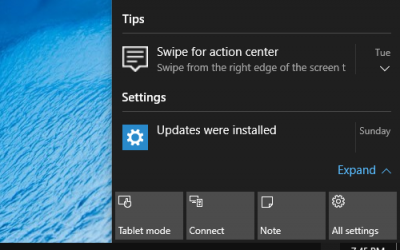 Comment supprimer des notifications d'Action Center dans Windows 10