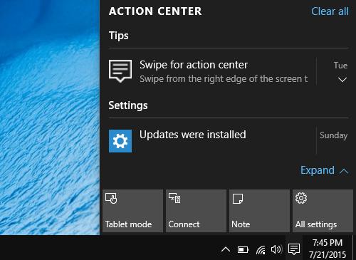 Comment supprimer des notifications d'Action Center dans Windows 10