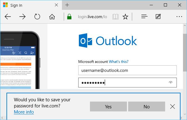 Gérer les mots de passe enregistrés dans le navigateur Microsoft Edge