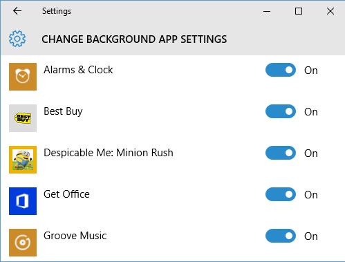 Activer ou désactiver les applications d'arrière-plan dans Windows 10