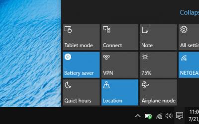 Comment utiliser et personnaliser les actions rapides dans Windows 10