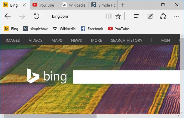Activer la barre des favoris et importer des favoris dans Microsoft Edge