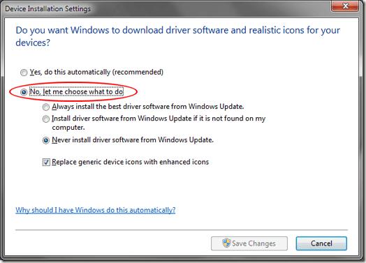 Windows 7 laissez-moi choisir quoi faire