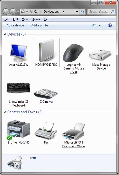 Icônes réalistes Windows 7