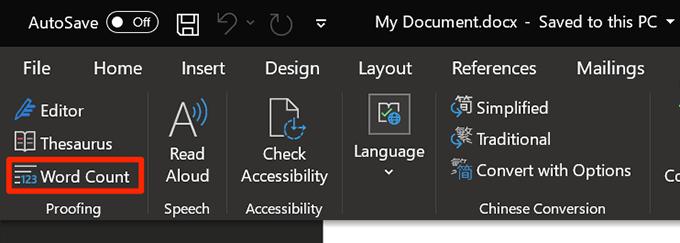 1607467068 375 Comment afficher le nombre de mots dans Microsoft Word