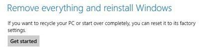 Supprimez tout et réinstallez Windows