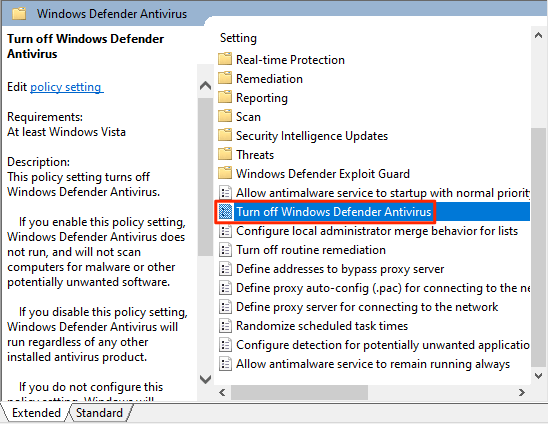 1607469901 53 Comment desactiver Windows Defender