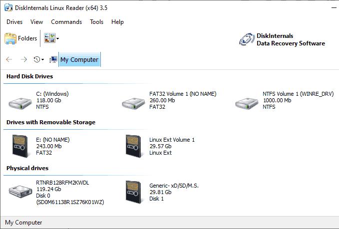 1607470262 722 Comment acceder aux partitions Linux sous Windows