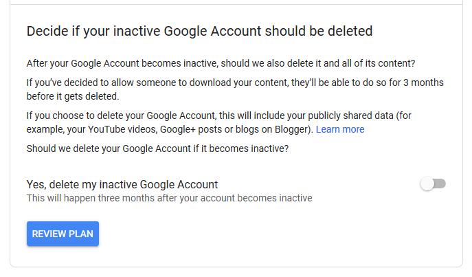 1607480320 23 Comment activer le gestionnaire de compte Google inactif