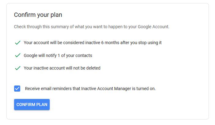 1607480320 877 Comment activer le gestionnaire de compte Google inactif