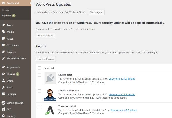 1607489075 851 Les meilleurs plugins pour garder WordPress a jour automatiquement