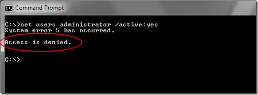 L'accès à Windows 7 est refusé