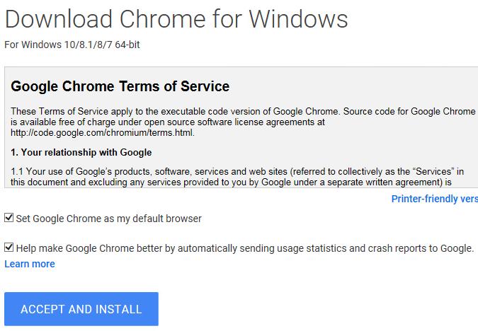 Télécharger le package redistribuable Google Chrome (programme d'installation autonome)