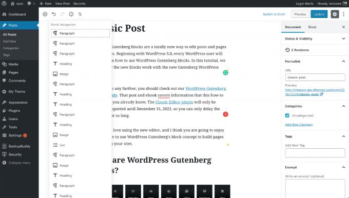 1607517709 137 Comment passer de lediteur WordPress classique a Gutenberg