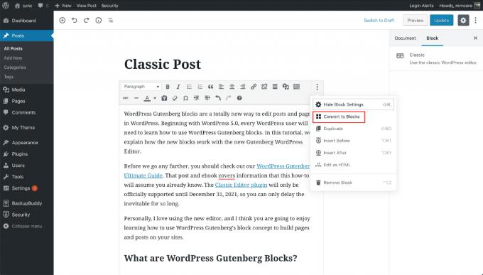 1607517709 161 Comment passer de lediteur WordPress classique a Gutenberg
