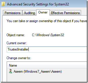 trustinstaller windows 7