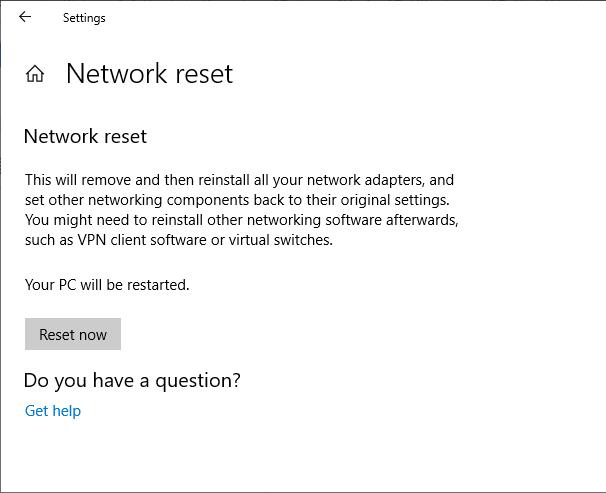 1607534600 728 Comment reparer Impossible de renouveler ladresse IP dans Windows