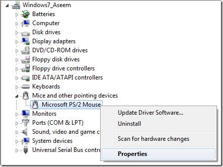 gestionnaire de périphériques windows 7