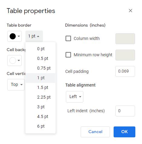 1607554320 705 Comment supprimer les bordures de tableau dans Google Docs
