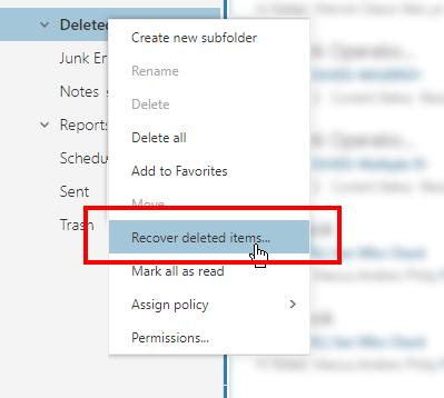 1607563480 850 Comment recuperer des e mails supprimes dans Office 365