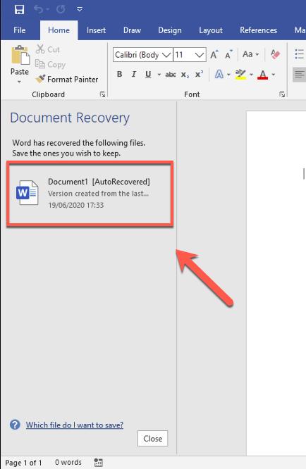 1607568301 316 Comment recuperer un document Word