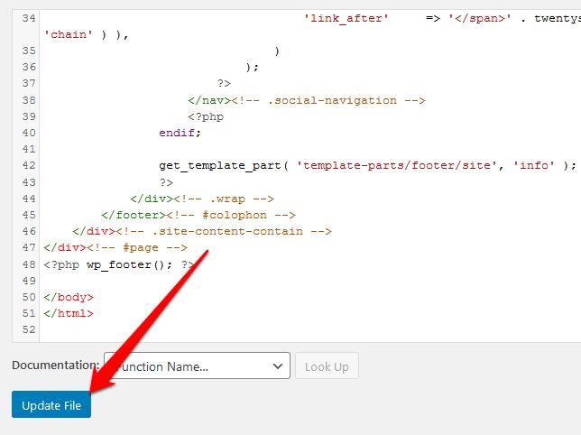 1607599396 186 Comment modifier le pied de page dans WordPress