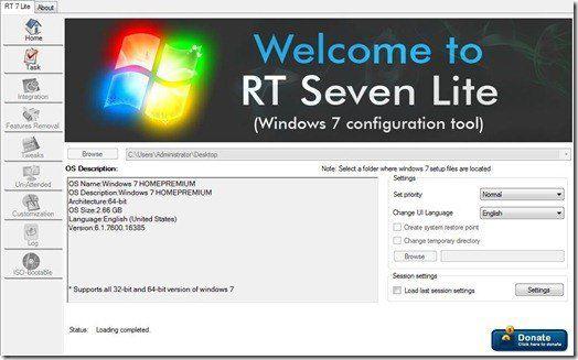 Chargement de RT Seven terminé