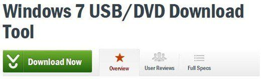 Téléchargement de DVD USB Win7