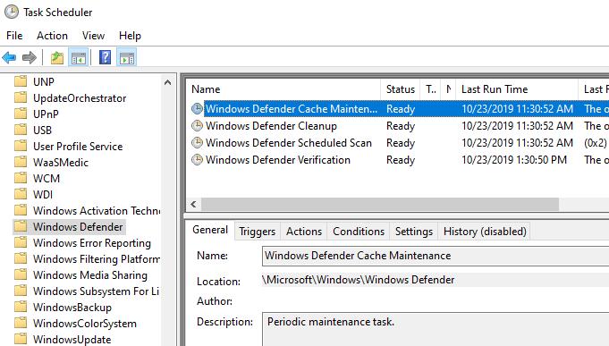 1607606826 552 Comment definir votre propre calendrier danalyse pour lantivirus Windows Defender