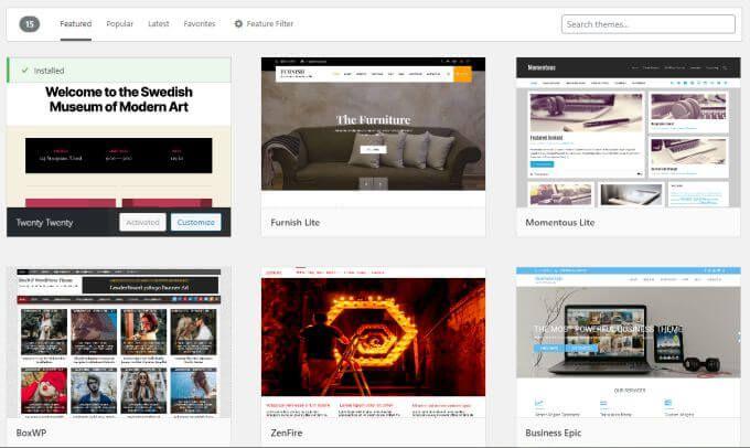 1607612355 876 Comment installer un theme sur WordPress