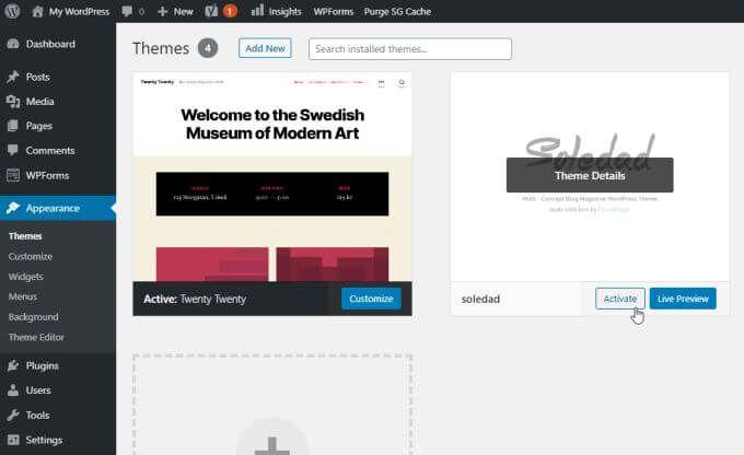 1607612356 241 Comment installer un theme sur WordPress