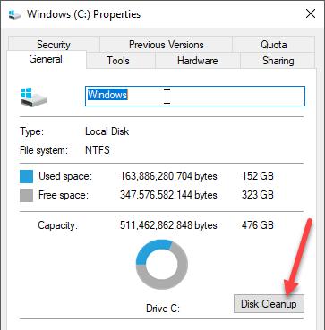 1607626301 594 Comment executer le nettoyage de disque dans Windows 10