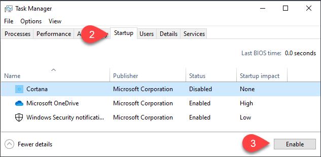 1607750725 364 Le dossier de demarrage de Windows 10 ne fonctionne pas