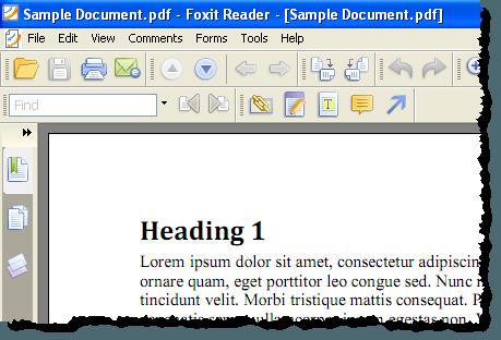 Le fichier PDF ouvert dans un lecteur PDF