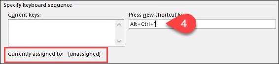 1607815080 846 Creer ou generer des raccourcis clavier pour Microsoft Office