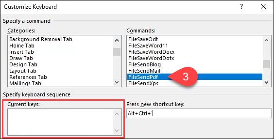 1607815080 981 Creer ou generer des raccourcis clavier pour Microsoft Office