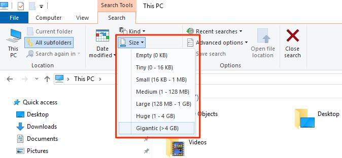 1607816502 652 4 facons de trouver des fichiers volumineux dans Windows 10