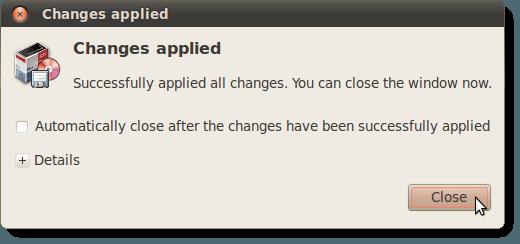 Modifications appliquées