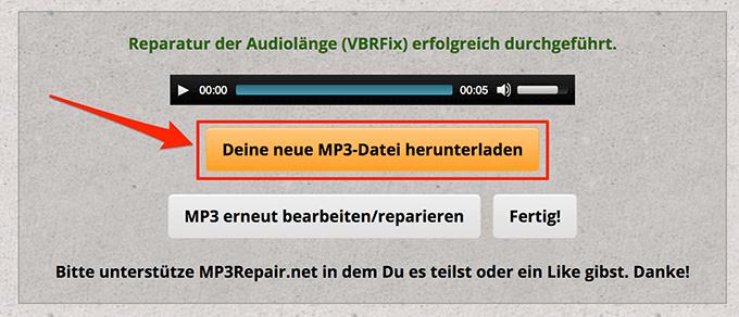 1607820198 12 Rechercher et reparer les fichiers MP3 endommages