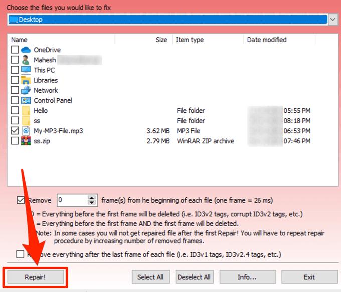 1607820198 777 Rechercher et reparer les fichiers MP3 endommages