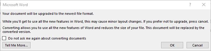 1607827354 777 Comment mettre a jour un ancien document Word au dernier