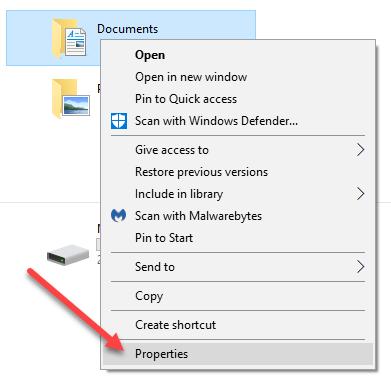 1607885088 663 Modifier lemplacement des dossiers utilisateur dans Windows