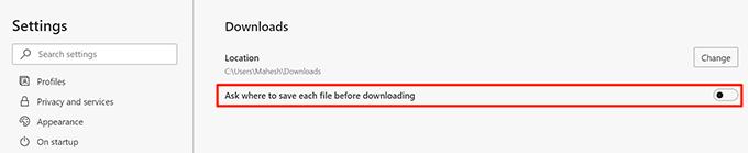 1607891087 656 Comment changer lemplacement de telechargement par defaut dans Windows 10