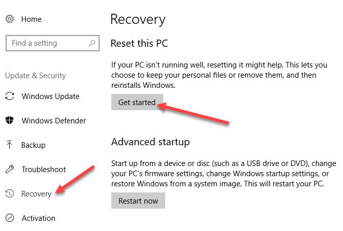 Corriger les applications Windows par défaut manquantes dans Windows 10