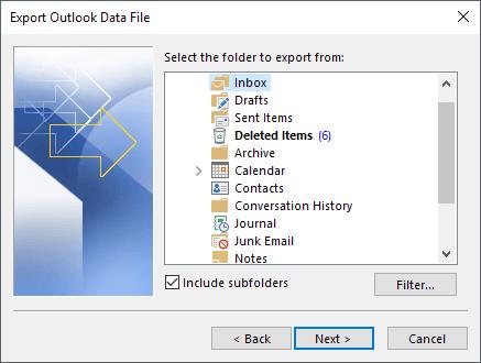 1607912826 160 Comment exporter vos e mails de Microsoft Outlook vers CSV ou