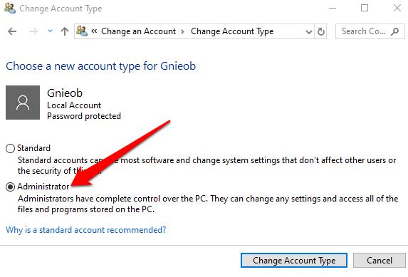 1607952468 109 Comment changer ladministrateur sous Windows 10