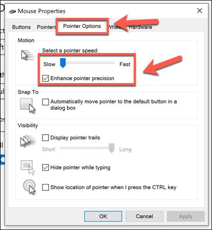 1607971103 415 Comment changer la vitesse de votre souris dans Windows 10