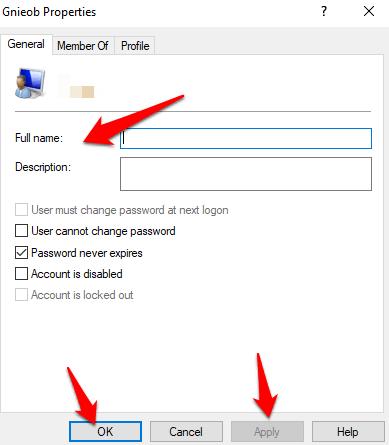 1607977354 455 Comment changer votre nom dutilisateur sur Windows 10